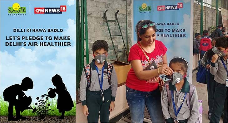 CNN-News18 & Smile Foundation #DilliKiHawaBadlo campaign?blur=25
