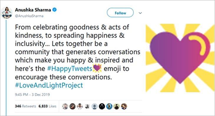Anushka Sharma #HappyTweets campaign