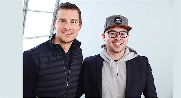 Bear Grylls and Delbert Shoopman