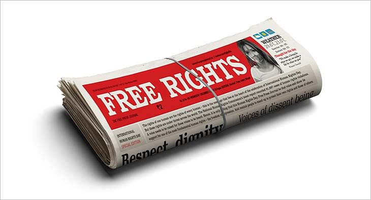 Free Press Journal masthead change to Free Rights