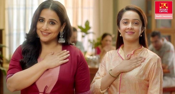 Vidya Balan for Aditya Birla Health Insurance?blur=25