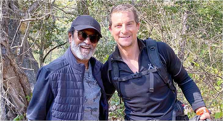 Rajinikanth Into The Wild with Bear Grylls?blur=25