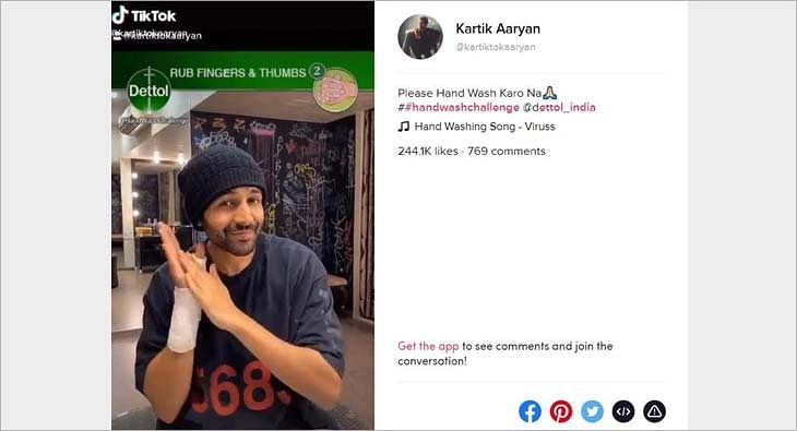 Dettol Handwash Challenge with Kartik Aaryan?blur=25