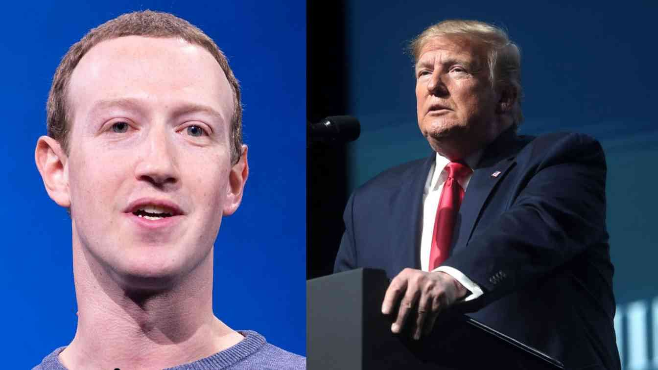 Mark Zuckerberg Donald Trump