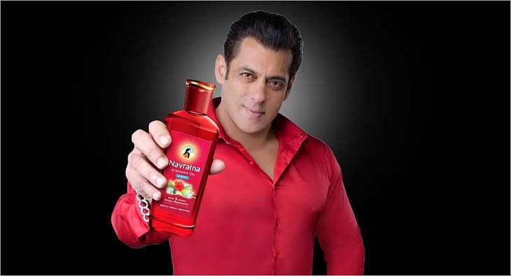 Navratna Oil campaign with Salman Khan