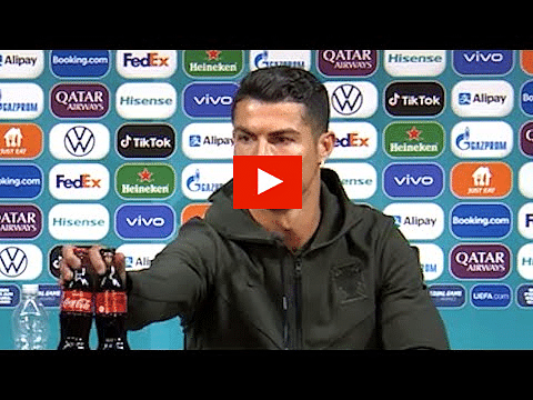 Ronaldo at UEFA Euro press conference