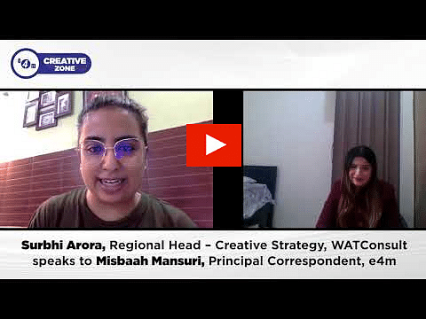 Creative Zone with Surbhi Arora, Regional Head – Creative Strategy, WATConsult?blur=25